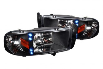 Spec-D® - Black Euro Headlights with LEDs