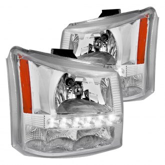 Spec-D® - Chrome LED Euro Headlights with Bumper Lights