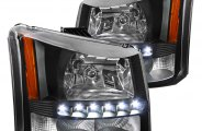 Spec-D® - Black Euro Headlights with LED