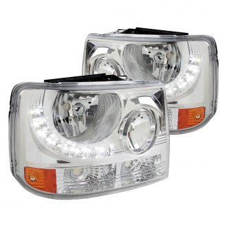 Spec-D® - Chrome Conversion Euro Headlights with LEDs
