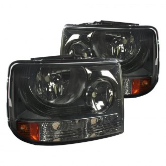Spec-D® - Driver and Passenger Side Black/Smoke Conversion Euro Headlights