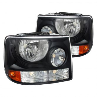 Spec-D® - Driver and Passenger Side Black Conversion Euro Headlights