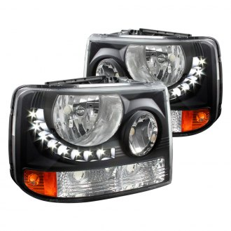 Spec-D® - Black Conversion Euro Headlights with LEDs