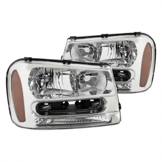 Spec-D® - Chrome Euro Headlights with Amber Reflectors