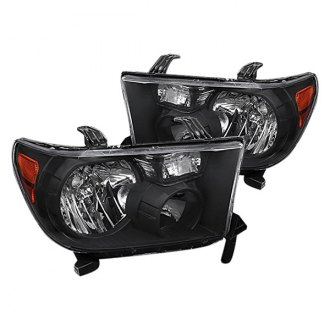Spec-D® - Black Euro Headlights with Amber Reflectors