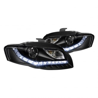 Spec-D® - R8 Style Black Projector LED Headlights with DRL