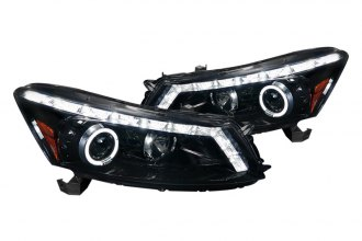 Spec-D® - Black/Smoke Halo Projector LED Headlights with Switchback DRL