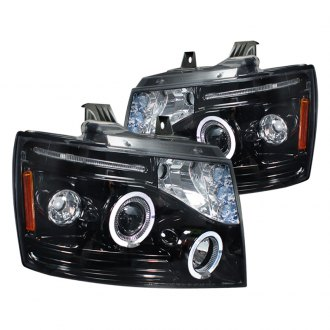 Spec-D® - Chrome/Smoke Dual Halo Projector LED Headlights