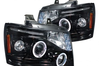 Spec-D® - Smoke Halo Projector Headlights with LEDs