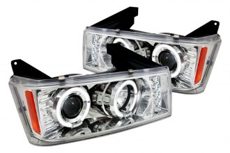 Spec-D® 2LHP-COL04H-TM - Chrome Halo Projector Headlights with LEDs