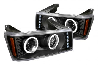 Spec-D® 2LHP-COL04HJM-TM - Black Halo Projector Headlights with LEDs