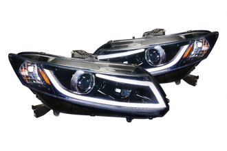 Spec-D® - Gloss Black Projector Headlights with R8 Style LEDs G2