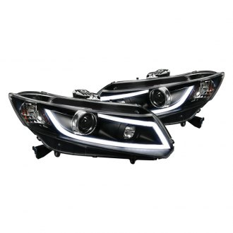 Spec-D® - Black U-Bar Projector Headlights with R8 Style LEDs
