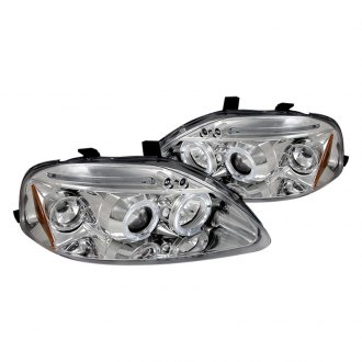 Spec-D® - Chrome Dual Halo Projector LED Headlights