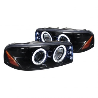 Spec-D® - Glossy Black Halo Projector Headlights with LEDs