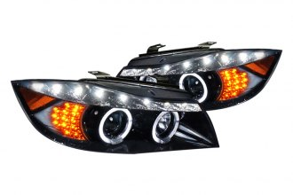 Spec-D® 2LHP-E9005G-8V2-TM - Black Halo Projector Headlights with LEDs G2