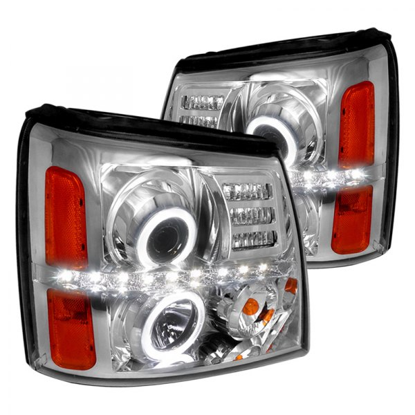 Spec-D® - Chrome Halo Projector LED Headlights