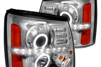 Spec-D® 2LHP-ECLD02-RS - Chrome Halo Projector Headlights with LEDs