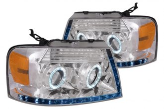 Spec-D® - Chrome Dual Halo Projector Headlights with R8 LED Style