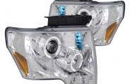 Spec-D® - Chrome Dual Halo Projector Headlights with LEDs
