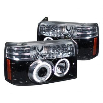 Spec-D® - Black/Smoke Dual Halo Projector LED Headlights