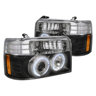 Spec-D® - Black Dual Halo Projector LED Headlights