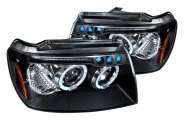Spec-D® - Black Halo Projector Headlights with LEDs