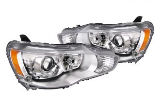 Spec-D® 2LHP-LAN08-DP - Chrome Projector Headlights with LEDs