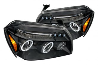 Spec-D® 2LHP-MAG05JM-TM - Black Halo Projector Headlights with LEDs