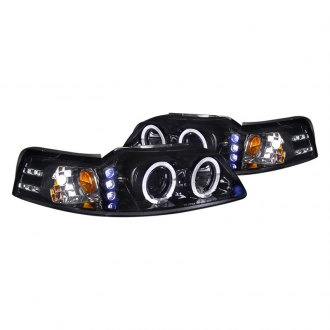 Spec-D® - Chrome/Smoke Halo Projector LED Headlights