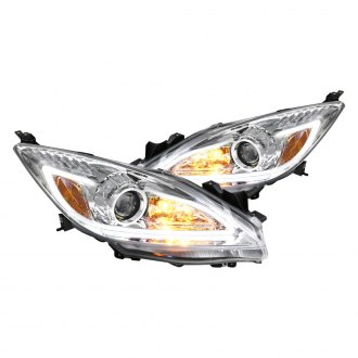 Spec-D® - Chrome U-Bar Projector LED Headlights