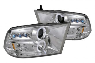 Spec-D® 2LHP-RAM09-TM - Chrome Halo Projector Headlights with LEDs