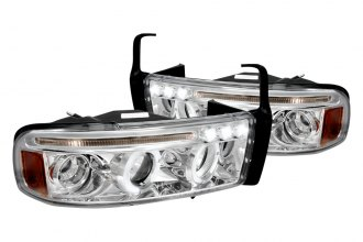 Spec-D® 2LHP-RAM94-TM - Chrome Halo Projector Headlights with LEDs