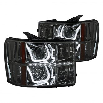 Spec-D® - Chrome/Smoke Projector LED Headlights