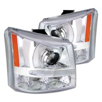 Spec-D® - Chrome Projector Headlights with Bumper Lights