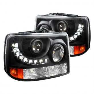 Spec-D® - Black Conversion Projector Headlights with LED DRL