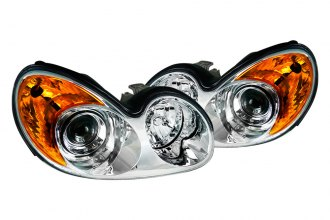 Spec-D® - Chrome Projector Headlights with Amber Reflectors