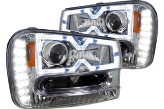 Spec-D® - Chrome Halo Rim Projector Headlights with LEDs