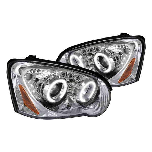 Spec-D® - Chrome Halo Projector Headlights with LEDs