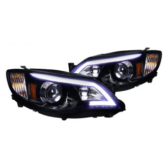 Spec-D® - Black/Smoke U-Bar Projector LED Headlights