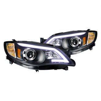 Spec-D® - Black U-Bar Projector LED Headlights