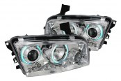 Spec-D® - Chrome Dual CCFL Halo Projector Headlights with LEDs