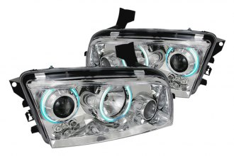 Spec-D® 3LHP-CHG05-KS - Chrome CCFL Halo Projector Headlights with LEDs