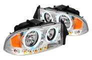 Spec-D® - Chrome CCFL Halo Headlights with LEDs