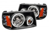 Spec-D® - Black CCFL Dual Halo LED Headlights