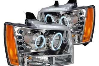 Spec-D® - Chrome CCFL Halo Projector Headlights with LEDs
