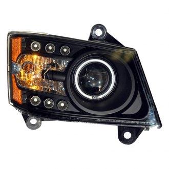 dodge caliber custom factory headlights com spec dacircreg black halo projector led headlights