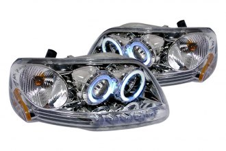 Spec-D® 4LHP-F150971PC-KS - Chrome CCFL Halo Projector Headlights with LEDs