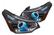 Spec-D® - Black CCFL Halo Projector Headlights with LEDs