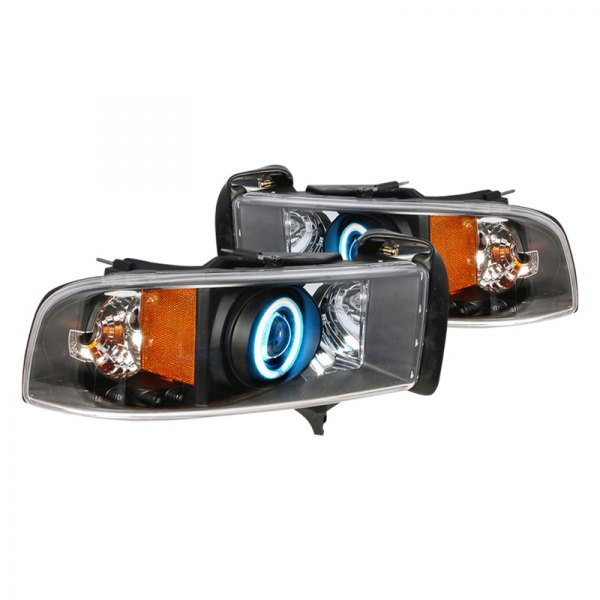 Spec-D® - Black CCFL Dual Halo Projector Headlights with LEDs